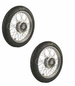 Komplettrad 16- Räder Reifen vorn hinten Simson S51 S50 S70 KR51 Schwalbe Duo - Bild vergrößern