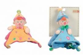 Kuscheltuch / Schmusetuch Clown von Nicotoy blau  - Bild vergrößern