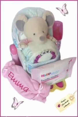 Windelwagen / Kinderwagen Wunschkind Spezial - rosa - Bild vergrößern