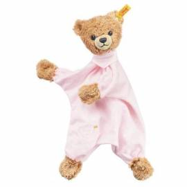 Schmusetuch Steiff Schlaf Gut Bär rosa - Bild vergrößern