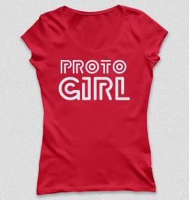 Girlie-Shirt, Motiv -PROTO GIRL- - Bild vergrößern