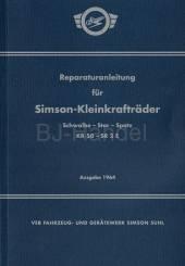 Reparaturanleitung -Schwalbe-Star-Spatz- Ausgabe 1964 KR50, SR2E