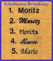 Namensbestickung für Kuscheltuch / Schmusetuch