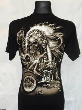 T - shirt - Trike - scull - chief - schwarz - kurzarm - BW - Bild vergrößern