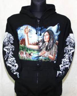 Indianerin, Weißkopfadler, Wolf - Bild vergrößern