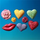 Soapyfun Gießform Herzen Rosen Kuss