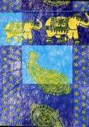 Deko Stoff Elefant blau