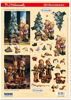 Hummel 3D Stanzbogen Am Weihnachtsbaum,viel Glück