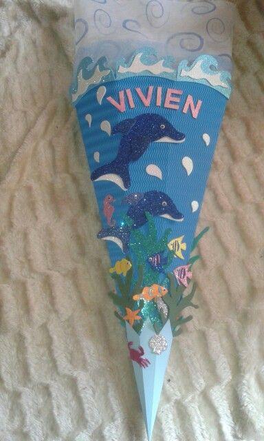 connys bastelparadies schultueten bastelset delphin im
