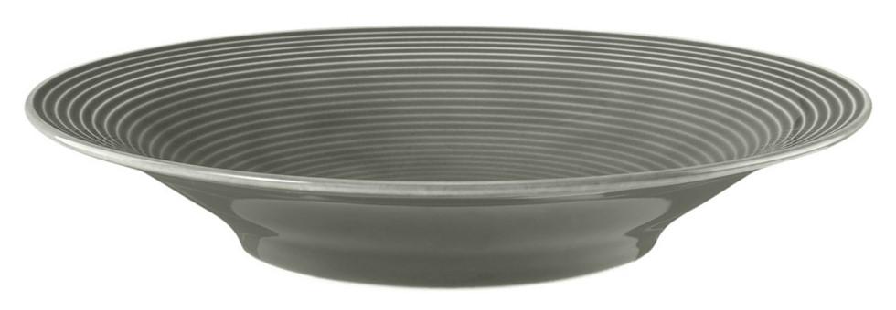 Suppenteller rund 22,5 cm Perlgrau