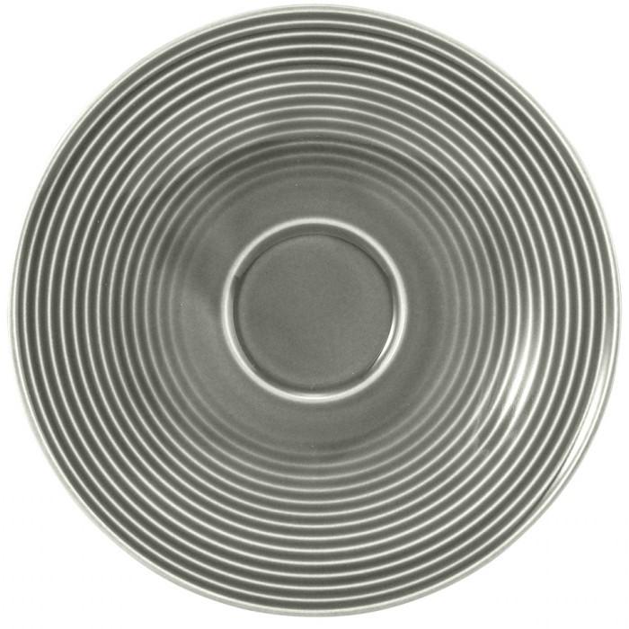 Kombi-Untertasse groß 16,5 cm Perlgrau