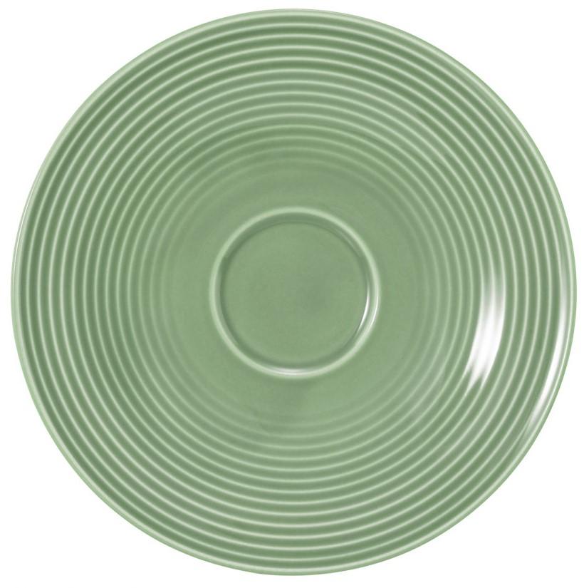 Kombi-Untertasse groß 16,5 cm Salbeigrün
