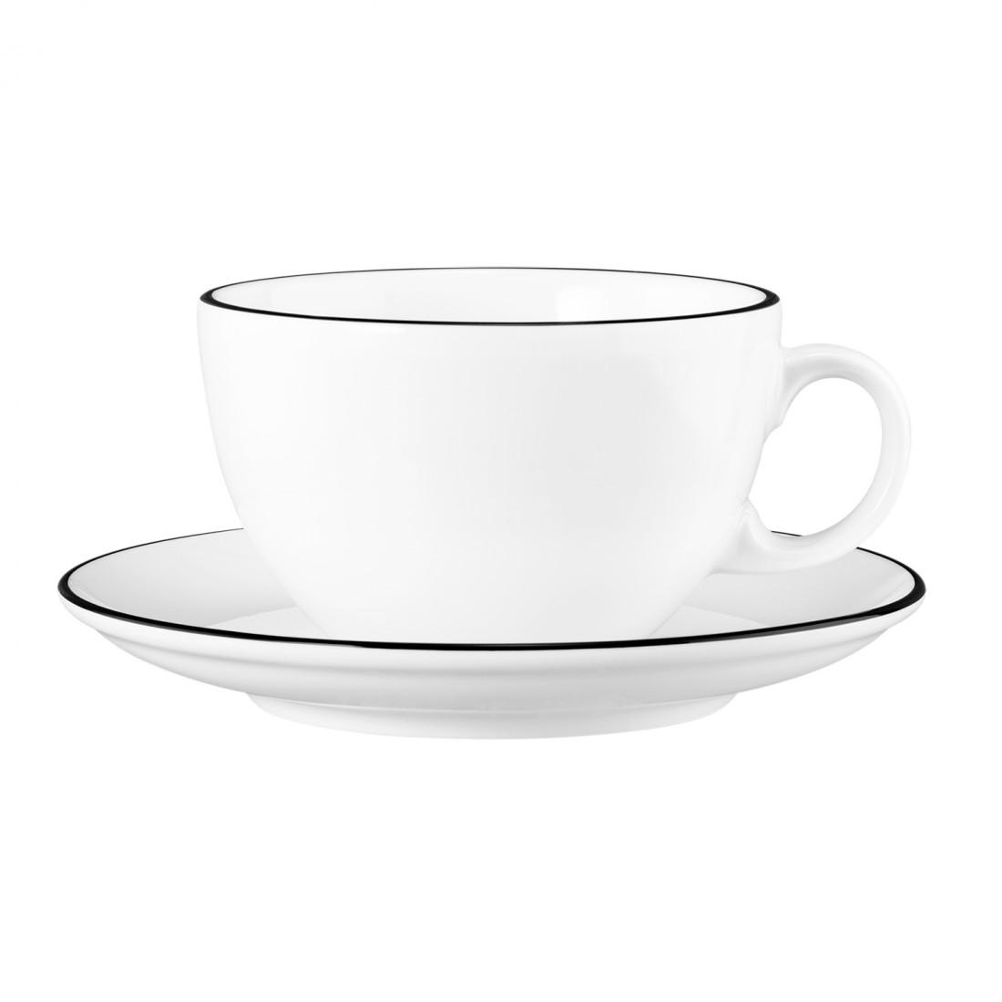 Milchkaffeetasse 0,37 mit Untertasse